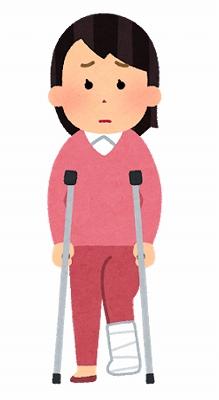 生命保険 骨折 ひび 松葉杖